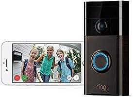 Ring Video Doorbell (1. Gen) | Con notificaciones activadas por movimiento, vídeo HD y comunicación bidireccional