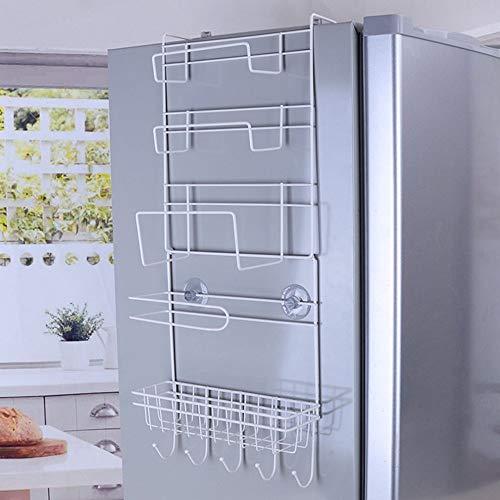 NV Un estante lateral de refrigerador rack lateral de pared rack hogar multi-capa refrigerador almacenamiento