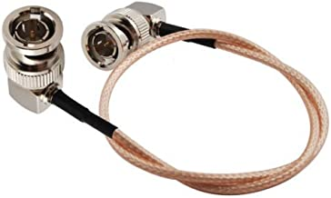 Eonvic 75 Ohm BNC Male Right Angle RG179 Coax Cable for BMCC BMPC Hyperdeck Cameras - 12