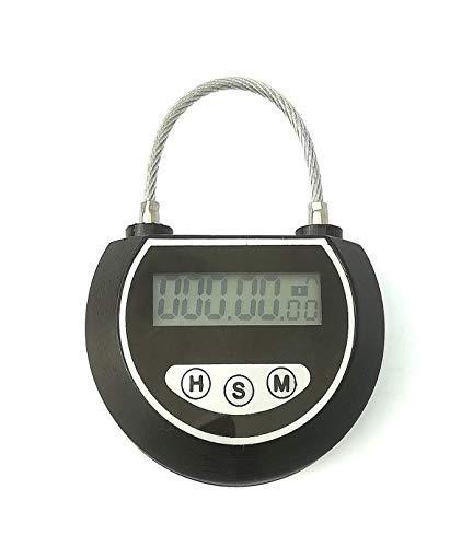 Digital Time Switch Deep Black KMYS Electronic Timer Timed Lock Multi-Function Time Lock Travel Lock
