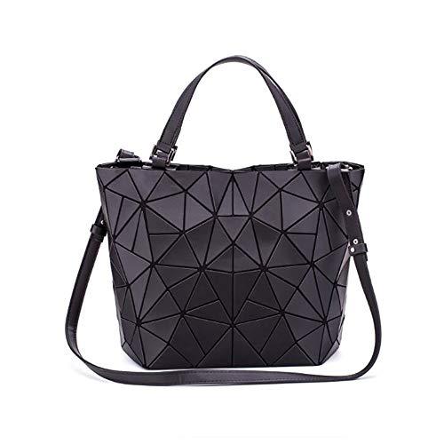 Pailletten-tas voor dames, licht, grote inhoud, geometrisch, reflecterend, PU, kleur