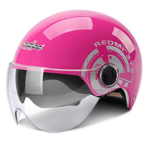Casco Moto Jet, Casco Moto Jet Abierto con Doble Visera, Casco Moto Abierto Custom Scooter para Mujer Hombre Adultos, para Motocicleta Ciclomotor y Scooter Bicicleta