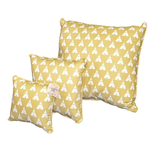 Cotton & Rye Outfitters Tee Pee Saffron/White Pillow, 24