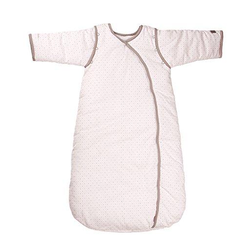 Saco de Dormir Todo el año 3 Tog Mangas Extraíbles - Niñito Sacos para dormir 12-36 Meses,Rosado