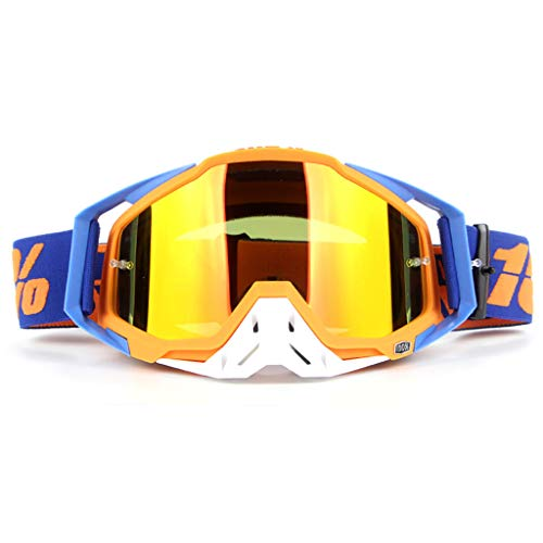 DZLXY PC Materiaal Motorfiets Rijbril Skibril Helm Goggles Tactische Goggles, voor Ski Shooting Riding Outdoor Sports,Geel