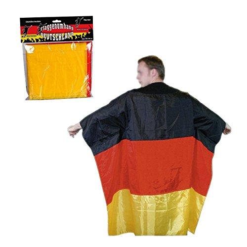 Preis am Stiel 1 x Fan-Umhang ''Deutschlandflagge'' | Fanartikel Deutschland | Geschenk für Männer | Fußball WM | Fahnene & Flaggen | Deutschlandfahne
