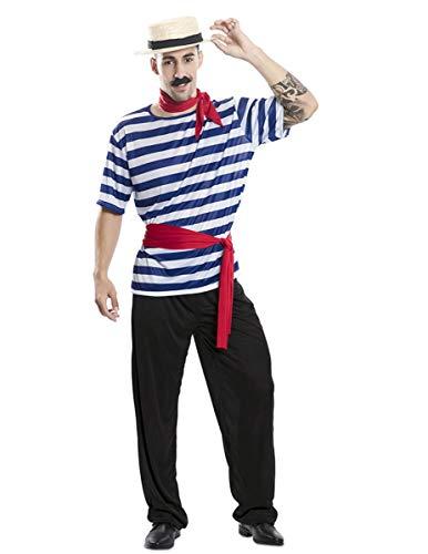 EUROCARNAVALES Disfraz de Gondolero para Hombre