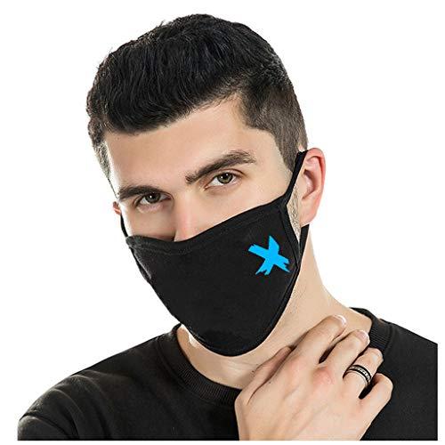 1 STK Baumwolle Mundschutz mit Motiv Leuchtende Gesichtsschutz,waschbar Unisex Wiederverwendbare Staubschutz Gesichtsabdeckung, Anti-Staub mundschutz zum Laufen, Radfahren (B)