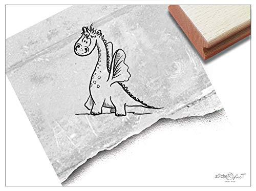 ZAcheR-fineT Stempel, kinderstempel, kleine draak, dierstempel, cadeau voor kinderen, kinderkamer, school, eerste schooldag, schooltas, knutselen