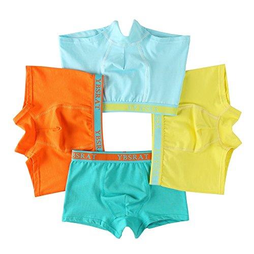 Usex Sense 12er Pack Kinder Jungen Boxershorts Baumwolle Unterhosen Slips Jungs Boxers Unterwäsche (M(3-5 Jahre), Mixed 1710)