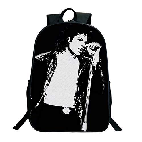 Mochila Michael Jackson Picture Daily Bag para estudiantes de gran capacidad