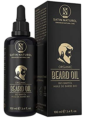 THE WINNER 2020* ORGANIC Beard Oil for Men Vegan - 2 x LARGER 100ml Violet Glass Bottle – Nourishing Beard Conditioner with Jojoba & Argan Oil - All-Natural Oils, No Additives - Made In Germany by Del Decus Enterprises Ltd.