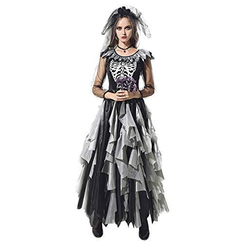 ShiyiUP Disfraz de Zombie Novia Cosplay Costume para Halloween