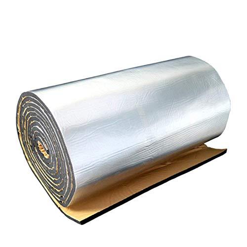 steman-net 断熱マット 車 遮音マット 遮音シート 断熱材 断熱吸音 防音シート フォーム シルバー 熱反射 ドア・エンジンなど用 アルミ箔 ガラス繊維 厚さ10mm 100×150cm