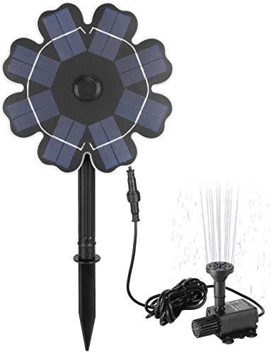 JFZCBXD Solarpumpe Vogelbad Brunnen 2.5W Sonnenkollektor Wasserspiele mit Stake Kabeln im Freien Solar-Garten-Brunnen für Teich, Pool, Rasen