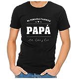 Regalo Personalizado para el día del Padre: Camiseta de Color Negro con la Frase 'Mi Persona Favorita' Personalizado con la dedicatoria Que tú Quieras.