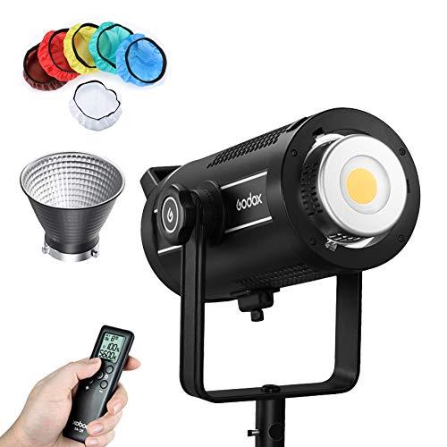 Godox SL200W II 200W LED lámpara de vídeo, CRI96 + TLCI97 +, efectos especiales 8-FX integrados, ventilador ultra silencioso para grabación de vídeo, interviaciones de mensajes y luz continua