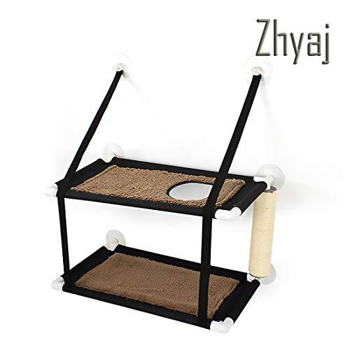 Zhyaj Katzen Hängematten Fensterplatz Fenster Betten Katzenbett Bis zu 20kg, Weiche Matten Katzenhängematte Sofas