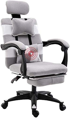 QNDDDD Office Chairs Gaming Adjustable Height Home Office Computer Desk Ergonomic Computer Office with Padded Footrest / Black/As Shown