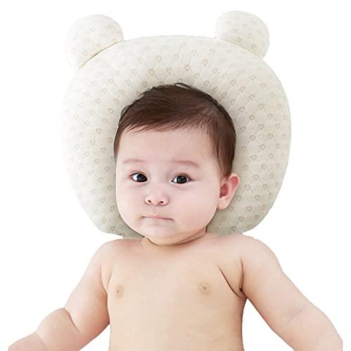 HXPainting Almohada para Bebe Planas para La Cabeza Bebé Recién Nacida Almohada Protectora para Bebés Cojín Recién Nacido para Anti Plagiocefalia 0-12 Meses