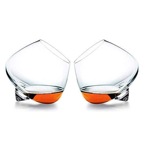 Copas de cóctel, Decantador de whisky Set para hombres Gafas de whisky, vidrieras de cristal antiguas para beber escocés, borbón, irlandés, cerveza, cócteles Copas de vino para bebidas, conjunto de 2,