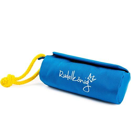 Rudelkönig Futterbeutel für Hunde - Apportierdummy zur Hundeerziehung - Robuster Trainingsdummy für Leckerlies (Blau)