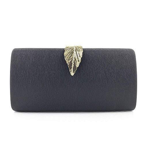 XiaoZou Abendkleid Damen Unique Party Abendkleid Blumen Farbe Pailletten Perle Brieftasche (Color : Black)