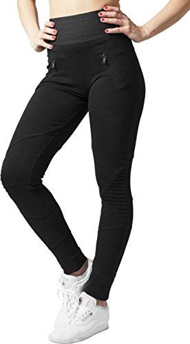 Urban Classics Damen Sport Legging Leggings Interlock High Waist schwarz (Schwarz) Large