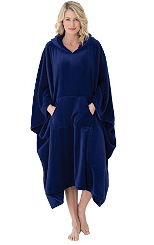 PajamaGram Women's Wearable Throw Bathrobe, Twilight, OneSize