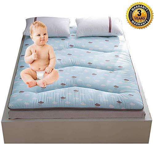 FF JapaNese vouwmatras voor rollon, draagbaar dikker matras, zachte slaapmat verlichten rugpijn student slaapzaal, C, 180 * 200cm