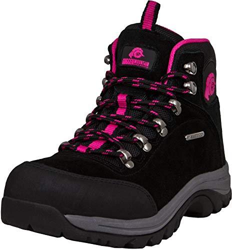 GUGGEN Mountain M014 Damen Trekking-& Wanderstiefel Outdoorschuhe wasserdicht mit Membran und Wildleder Farbe Pink EU 41