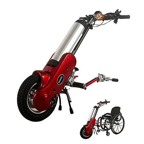 CHUDAN Elektrische rolstoel, aandrijving, 36 V, 400 W, rolstoel, handbike met 12 inch luchtbanden, intelligente automatische rolstoel-draagbare medische scooter, opsteekbaar voor klapprofielstoel, sport-rolstoel