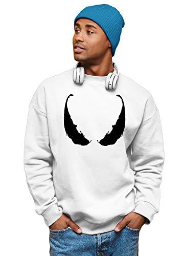 Spiderman Venom Eyes Marvel PS5 Gaming Unisex Sweater TV Sweatshirt Herren & Damen Gr. XXL, weiß