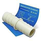 Raccordo per tubo di scarico, adattatore Ø 22 mm, per tubo di scarico della lavatrice e lavastoviglie