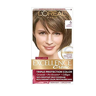 L'Oreal Excellence Creme, Light Brown [6] 1 Each (Pack of 3)