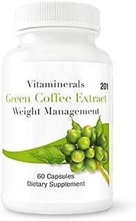 VITAMINERALS 201 Green Coffee Bean Weight Management 60 Count