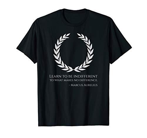 Classical Rome Stoic Philosophy Caesar Marcus Aurelius Quote T-Shirt