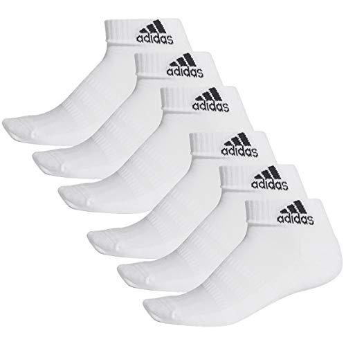adidas 6 Paar Performance Sneaker/Quarter Socken Unisex Kurzsocke, Farbe:White, Socken und Strümpfe:40-42