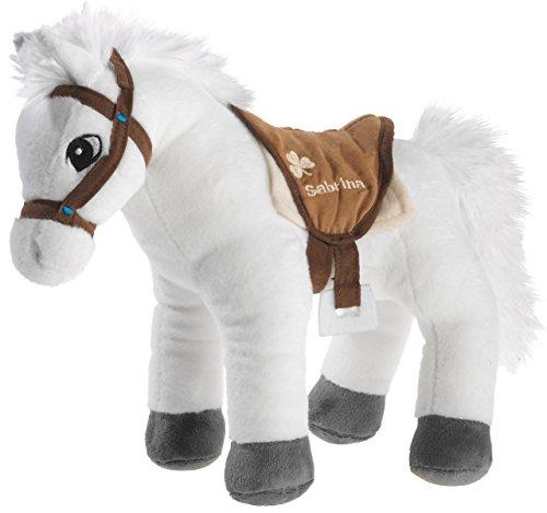 Bibi & Tina 637573 Plüschtier, Pferd, weiß mit braun
