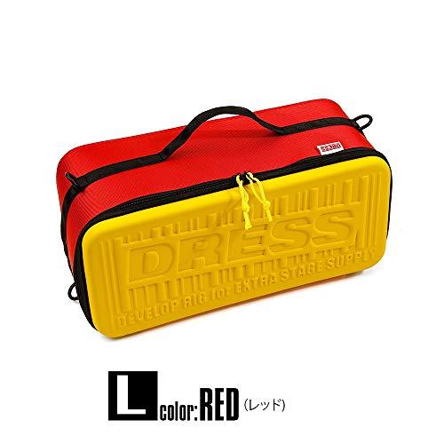 (DRESS)ユーティリティセミハードケース ペグケース アウトドア収納ケース レッド L