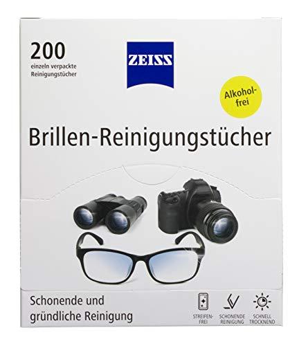 ZEISS - Toallitas de Limpieza para Gafas NUEVA Fórmula para una Limpieza Suave y Profunda de sus Gafas (200 Unidades)