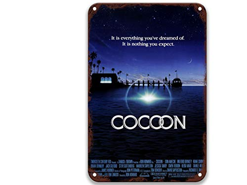 NNHG Cocoon (1985), Vintage-Filme, Metall-Blechschilder, Poster, Kunstgruppe für Mann, Heimdekoration, Garten, Landhaus, Dekoration, Bar, 20,3 x 30,5 cm