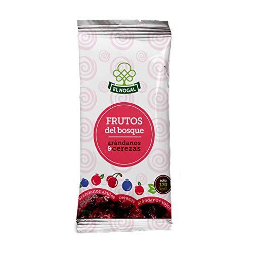 El Nogal Frutas Deshidratadas Frutos del Bosque (Arándanos Rojos y Azules y Cerezas), Bolsa 50 G