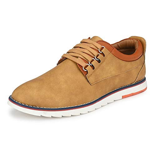 Centrino Men's 3323 TAN Sneakers-9 UK (43 EU) (10 US) (3323-01)