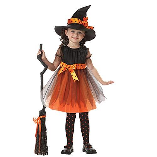 2019 Ropa Bebe - Niños pequeños Bebés Niñas Ropa de Halloween Disfraz Vestido Vestidos de Fiesta + Traje de Sombrero