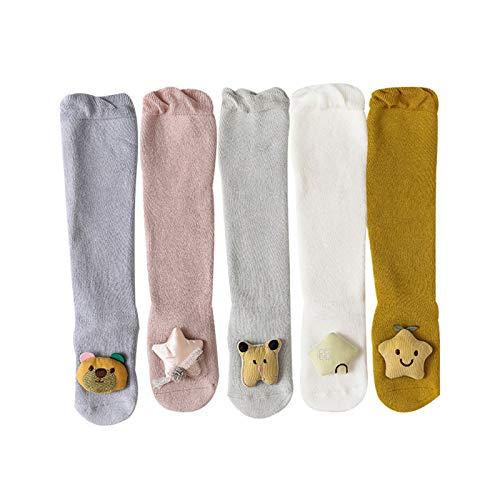 HLONGG Otoño E Invierno New Baby Terry Socks Engrosado Tridimensional Muñeca Darling Socks Cocking Recién Nacido 5Psc,5psc