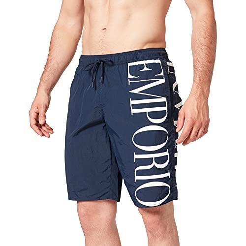 Emporio Armani Swimwear Bermuda Eco Conscious New Basics Costume da Bagno, Black, 46 Uomo