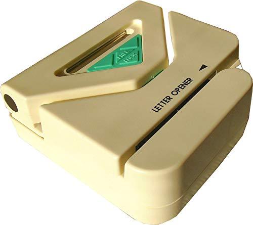 artline EVIT LO310 Brieföffner elektrisch mit Locher mechanisch viereckig weiß und grün BZW. schwarz-grau Kombigerät