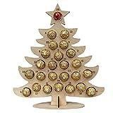 Bomoya - Espositore in legno per cioccolatini e caramelle, con calendario dell'avvento a forma di albero di Natale e alce