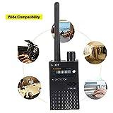 ASHATA Detector de Señal RF Portátil,Finder Tracker 1MHz - 8GHz,Escáner Anti Escucha para GPS/Cámara Espía Inalámbrica 1.2G y 2.4G/Fuentes de Radiación,etc.(Sensibilidad de Detección Ajustable)